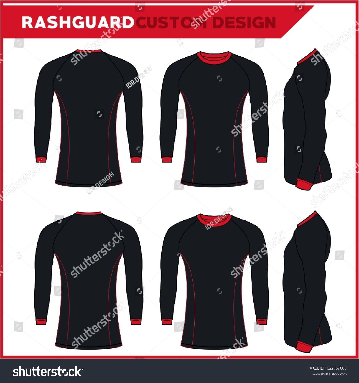Rash Guards Template Design Rash Guard Jiu Jitsu Custom Design