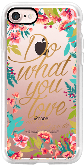 Casetify iPhone 7 Classic Snap ケース - Do what you love- love what you do - spring by maria kritzas #Casetify