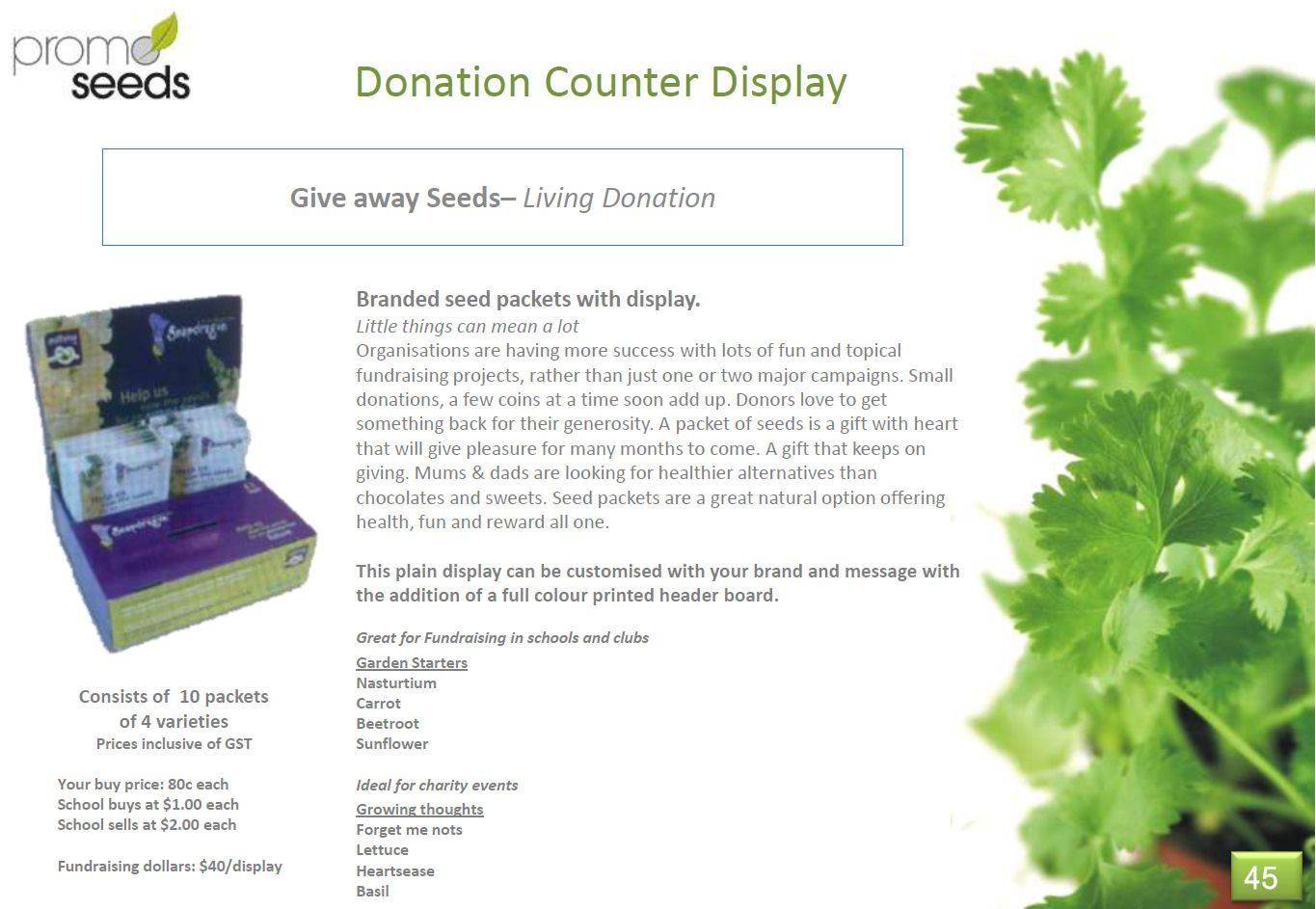 promoseeds donation counter display perfect for fundraising in