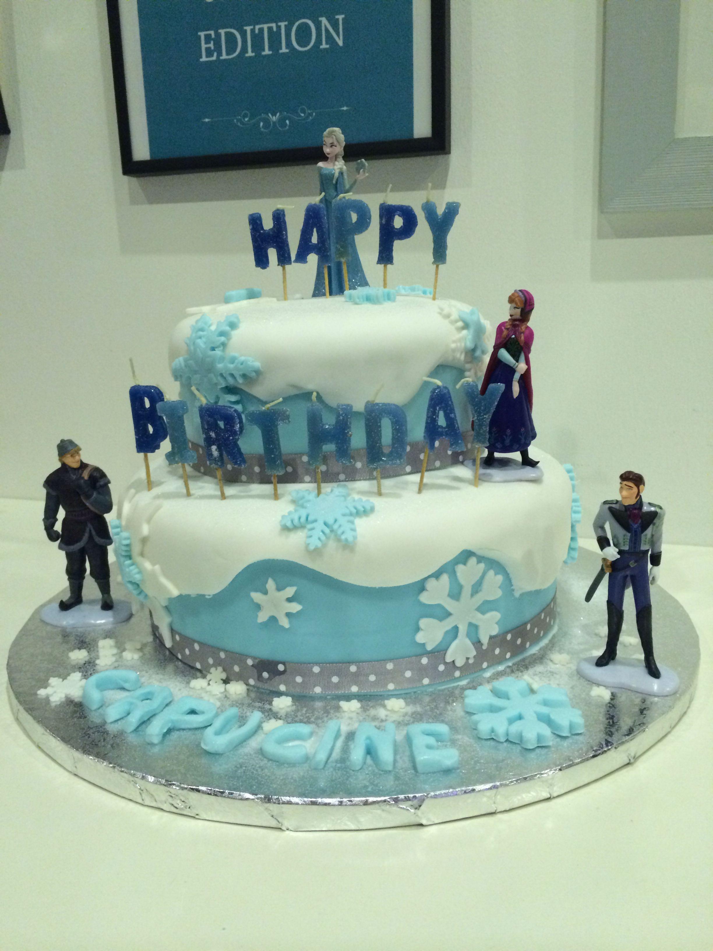g teau anniversaire reine des neiges anniversaires pinterest happy birthday cake and. Black Bedroom Furniture Sets. Home Design Ideas