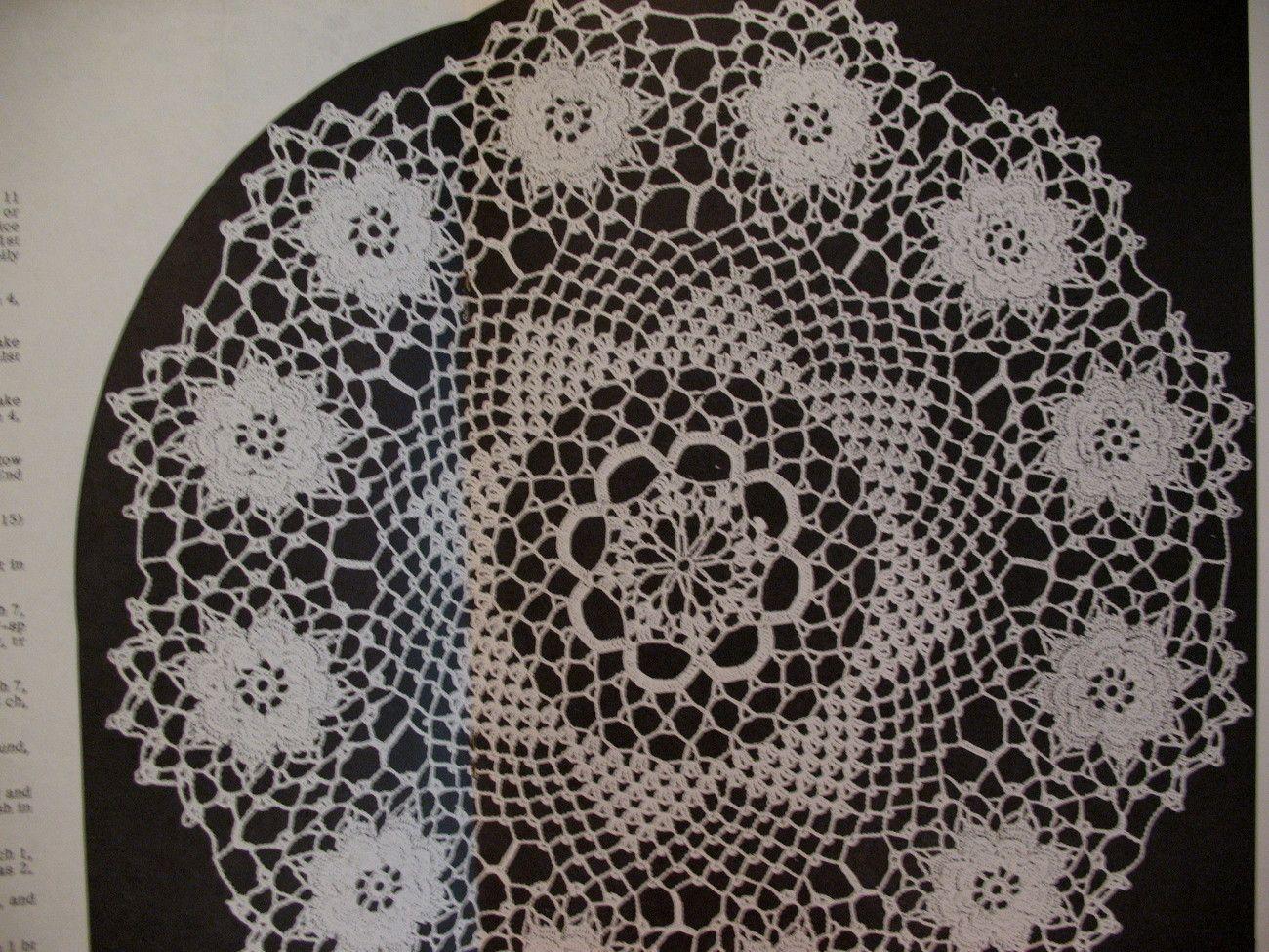 Vintage Crochet Doily Doilies Patterns Elizabeth Hiddleson | Crochet ...