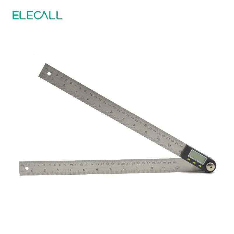 Elecall 500mm Digital Protractor Inclinometer Goniometer Level Measuring Tool Stainless Steel Waterproof Electronic Angle Ga Measurement Tools Protractor Tools