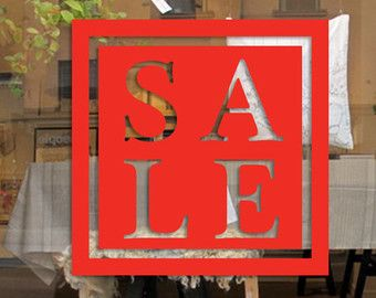 Circle Sale Sign In White For Shop Window Wall By Customdecalsforu - College custom vinyl decals for car windowsbest back window decals ideas on pinterest window art