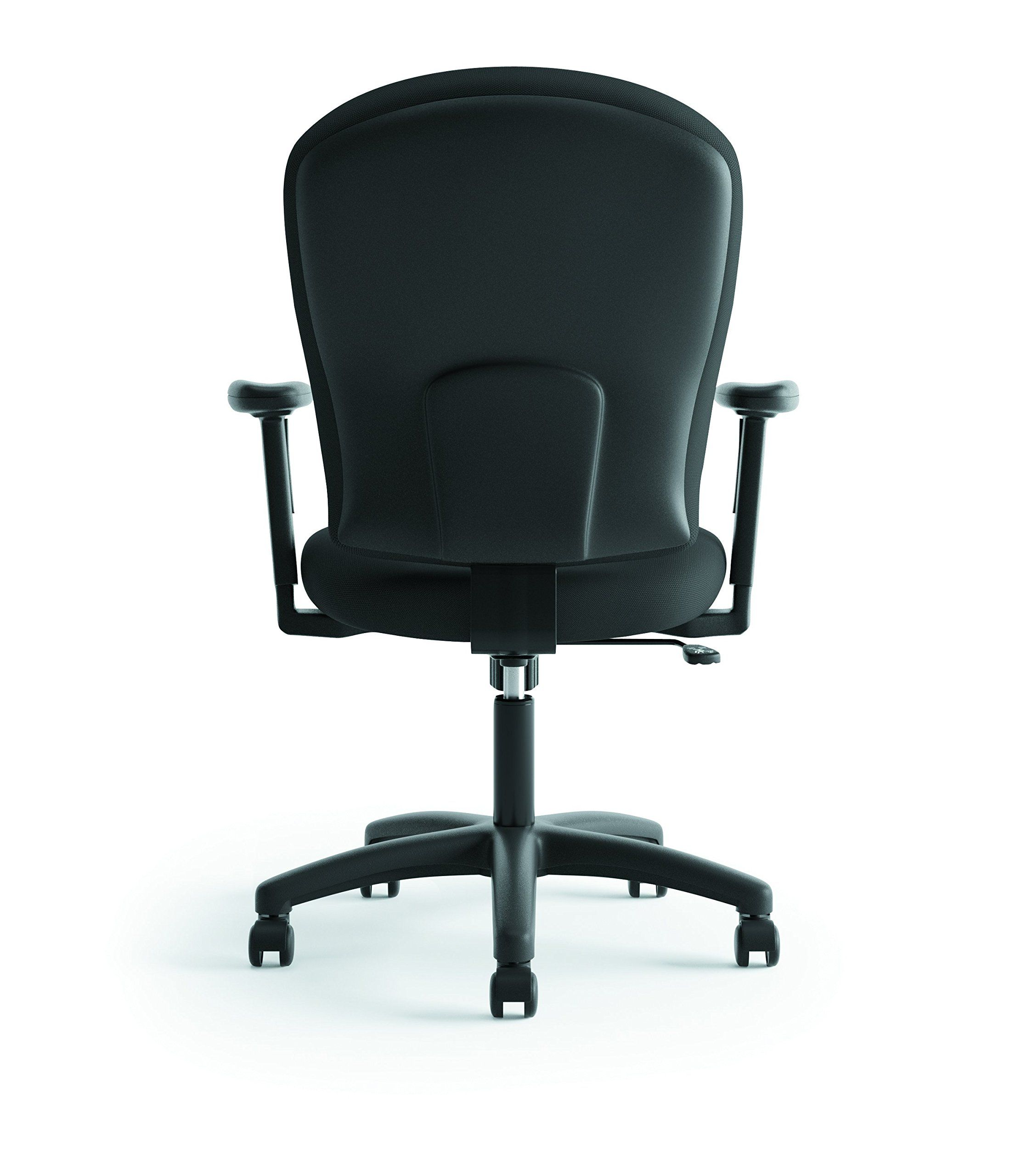 Hon mid back task chair fabric computer chair with arms
