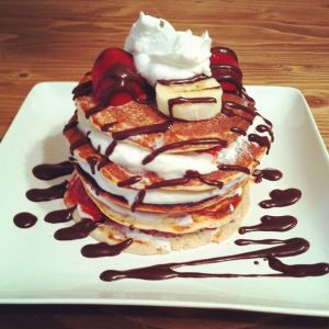 TONS OF GREAT PANCAKE RECIPES USING COCONUT FLOUR AND FAT FREE CHEESE OR GREEK YOGURT!