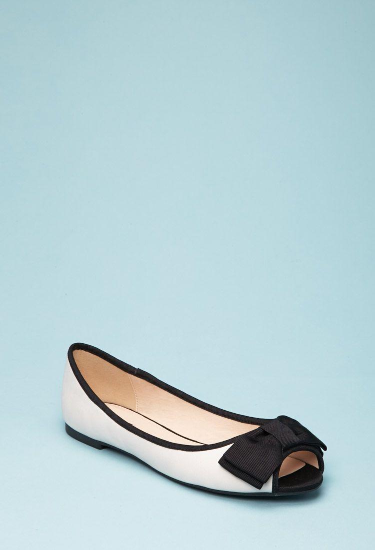 bc6ad828e91 Peep-Toe Flats