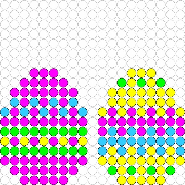 16e338ef48e61 Easter eggs perler bead pattern Pony Bead Projects