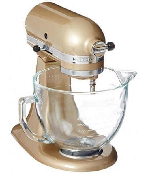 KitchenAid KSM155GBCZ Artisan Design Series Glass Bowl, 5 quart, Champagne Gold