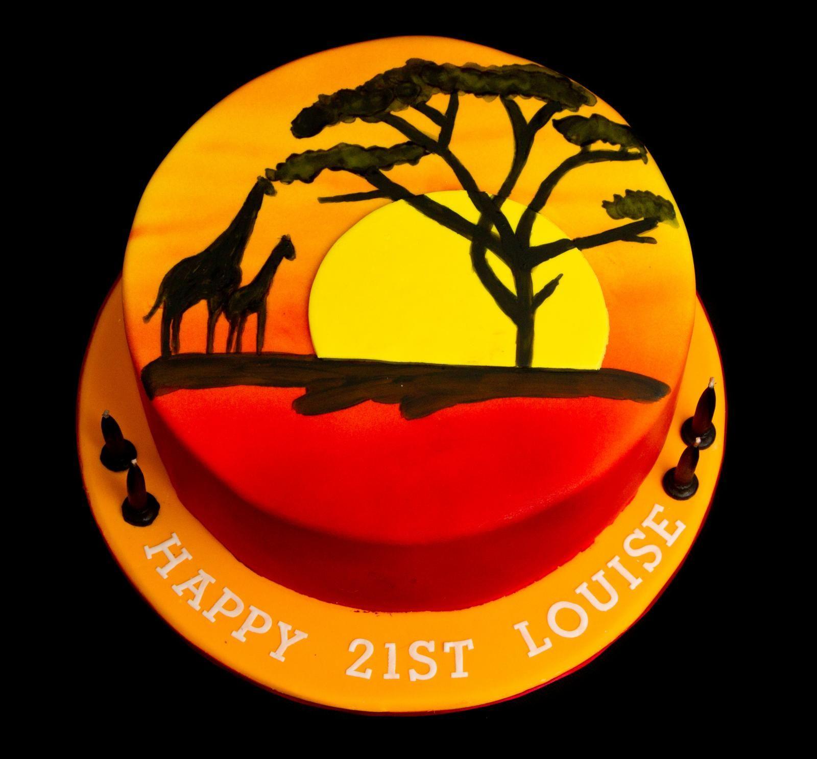 Africa Geburtstag Kuchen Kuchen Und Tortendeko