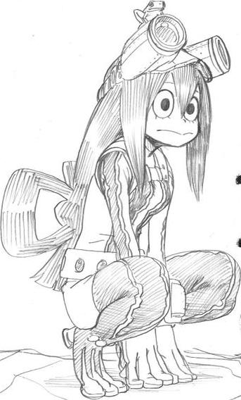 Å€è¶Šè€•å¹³ On Twitter Hero Wallpaper My Hero Academia Tsuyu Anime Sketch