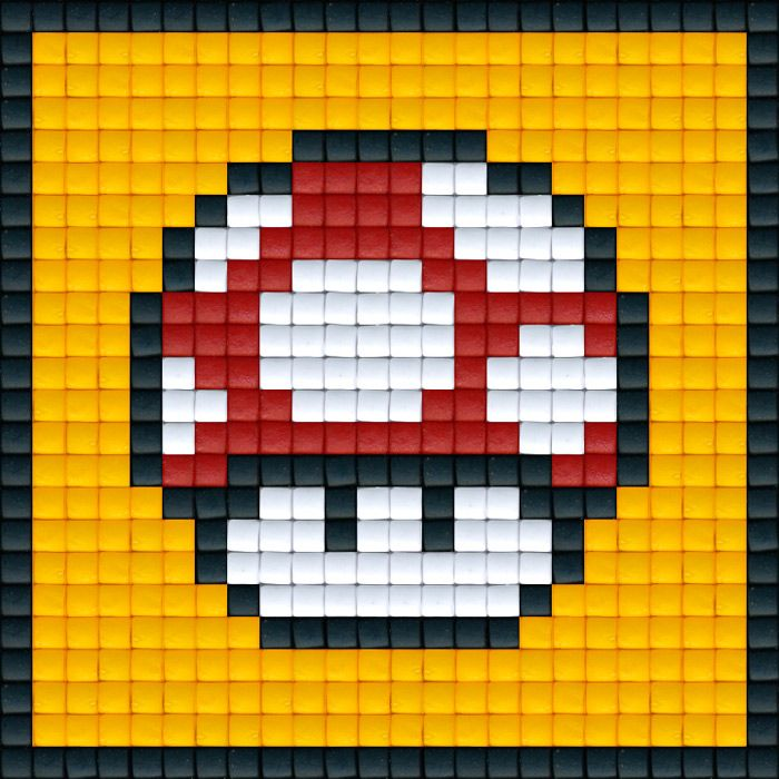 Mario Paddenstoel Rood | Kids cards, Hama beads and Cross stitch