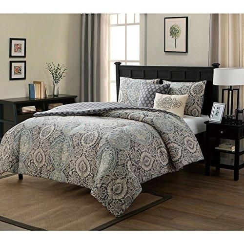 Best 5 Piece Blue Medallion Comforter Twin Xl Set For Master 400 x 300