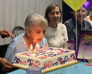 Happy 105th Birthday to Roxie Maloyan Dorgan! We feel very honored that you and your family chose to celebrate with us and we wish you much happiness and FUN in the years ahead ♥