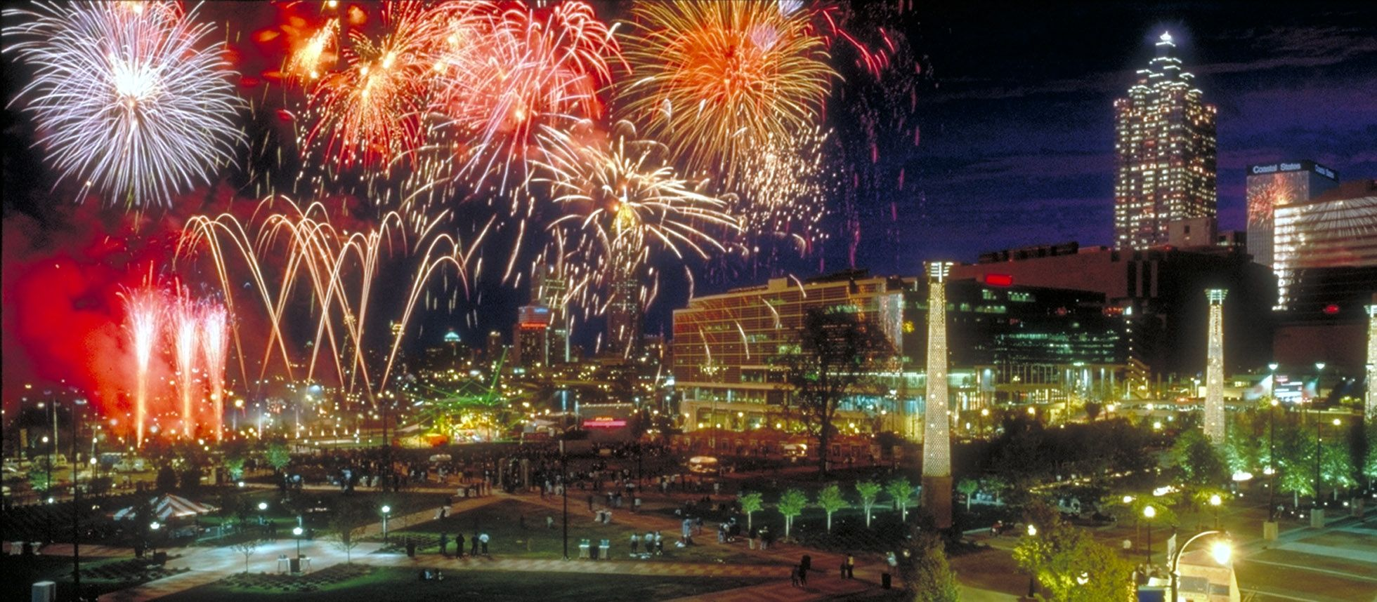 Happy 4th Of July From The Folks At Rest Revolution 4th Of July Fireworks Centennial Olympic Park Stone Mountain Park