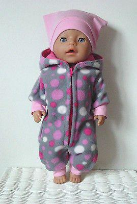Puppenkleidung Winter Set für z.B.JAKO-O Krümel/BABY BORN o.a.42-43cm Puppen