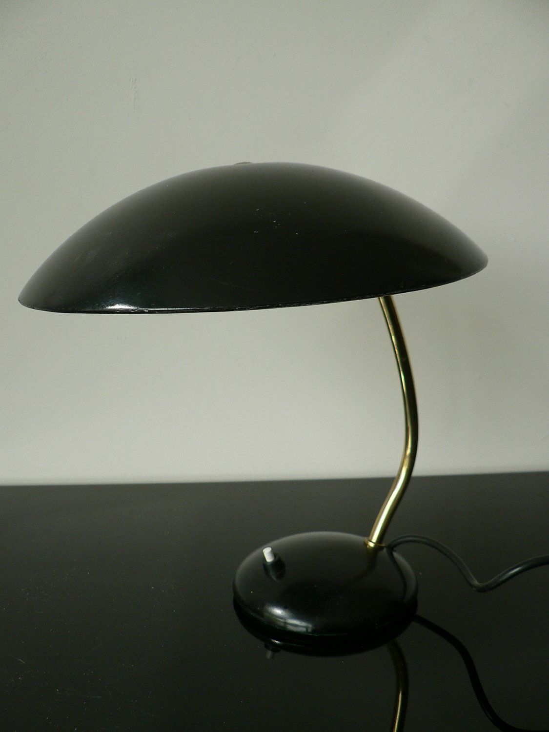 Vintage 1950s Mid Century Modern Hala Table Lamp Black Metal Desk Lamp Dutch Design Lamp Eames Phillips Bauhaus Era 175 00 Via Etsy Luci Artisti