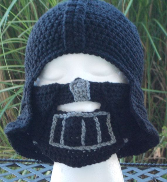 Inspired By Star Wars Darth Vader Crochet Hat And By Jazmyn1006 25 00 Star Wars Crochet Crochet Hats Crochet Projects