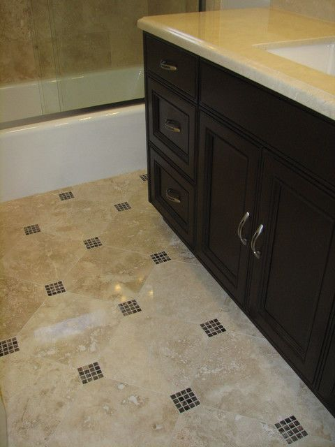 Tile layout with our glass inserts