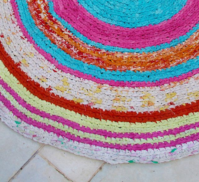 Crocheted Rag Rug From Sheets Creative Jewish Mom Ok Ready To