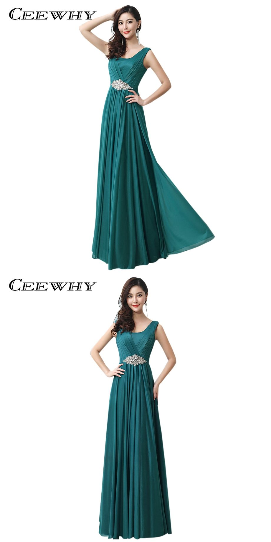 Ceewhy floorlength crystal evening dress formal gowns peacock