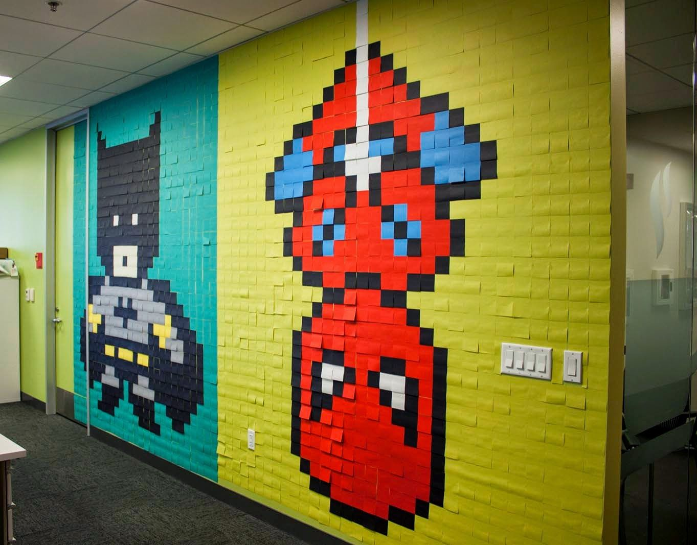 "Assez Bruck7 creates ""Pixel Superheroes"", a new indoor installation in  AC32"