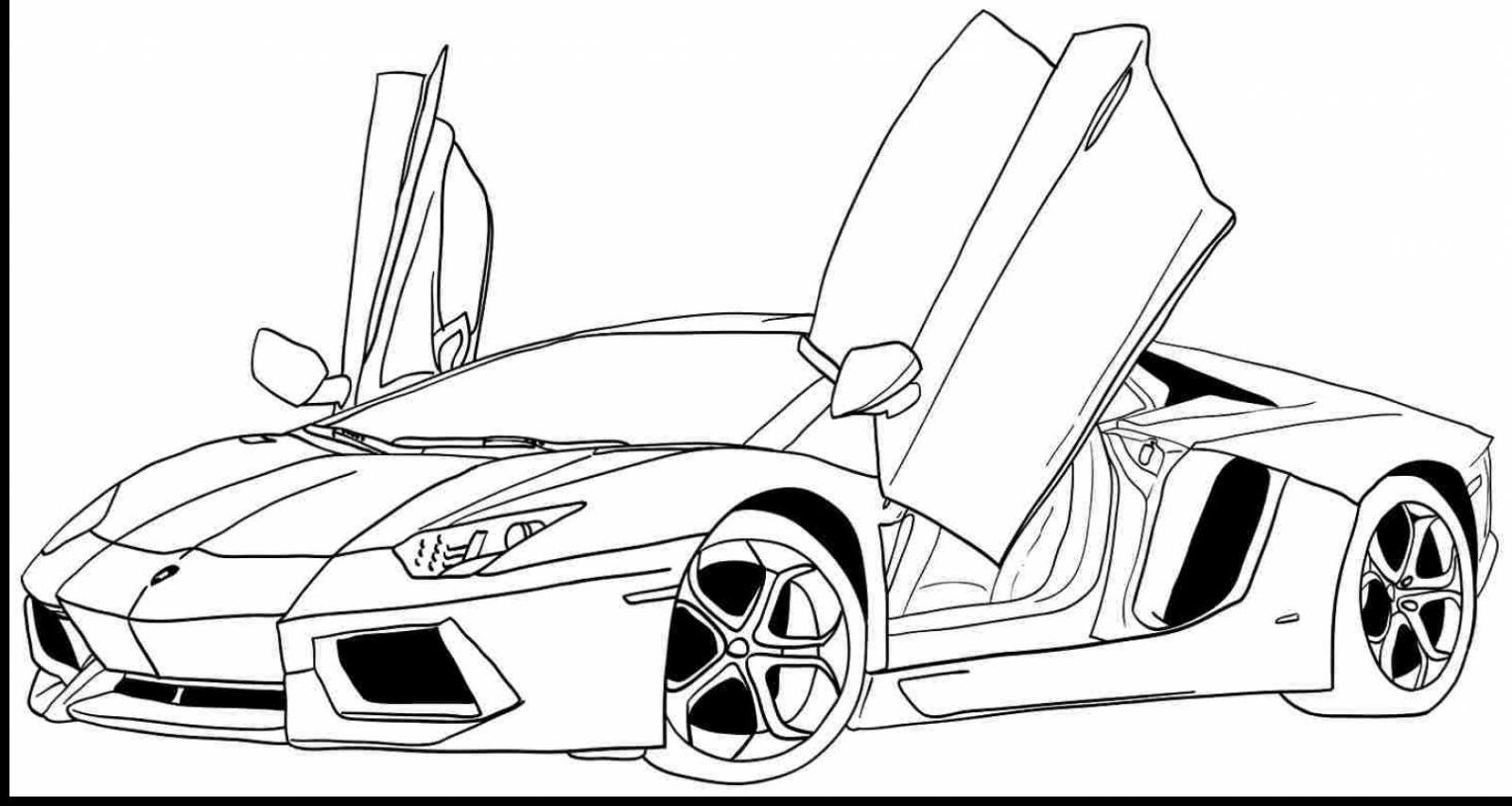 Sports Car Coloring Pages  Sports coloring pages, Race car
