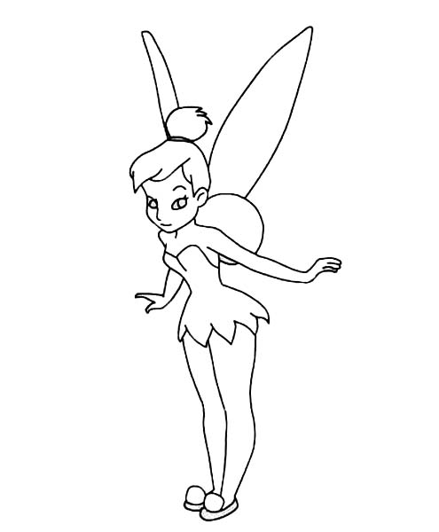 Tinkerbell Ready To Fly In Pixie Coloring Page Netart Coloring Pages Pixie Tinkerbell