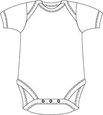 Leuk rompertje om een leuke tekening in te maken voor de pas - onesie template