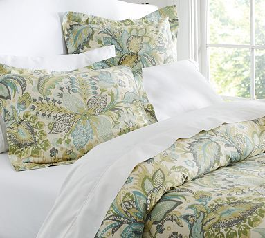 Juliana Floral Organic 350 Thread Count Duvet Cover U0026 Sham From Pottery  Barn @