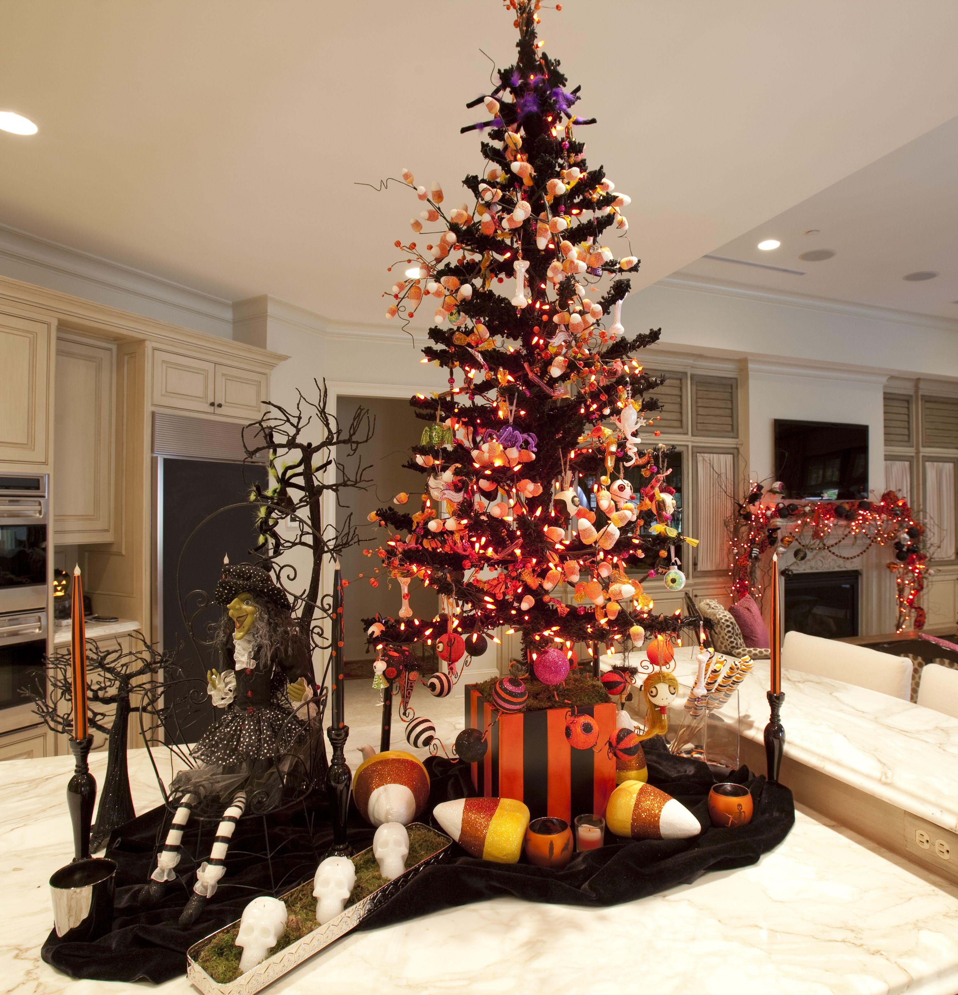 Island Christmas Tree.Christmas Tree Halloween Tree On Kitchen Island ℭhris