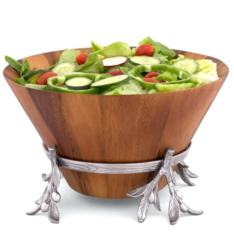 Wood Salad Bowl Court Fields Wood Salad Bowl Reviews Fields Wood