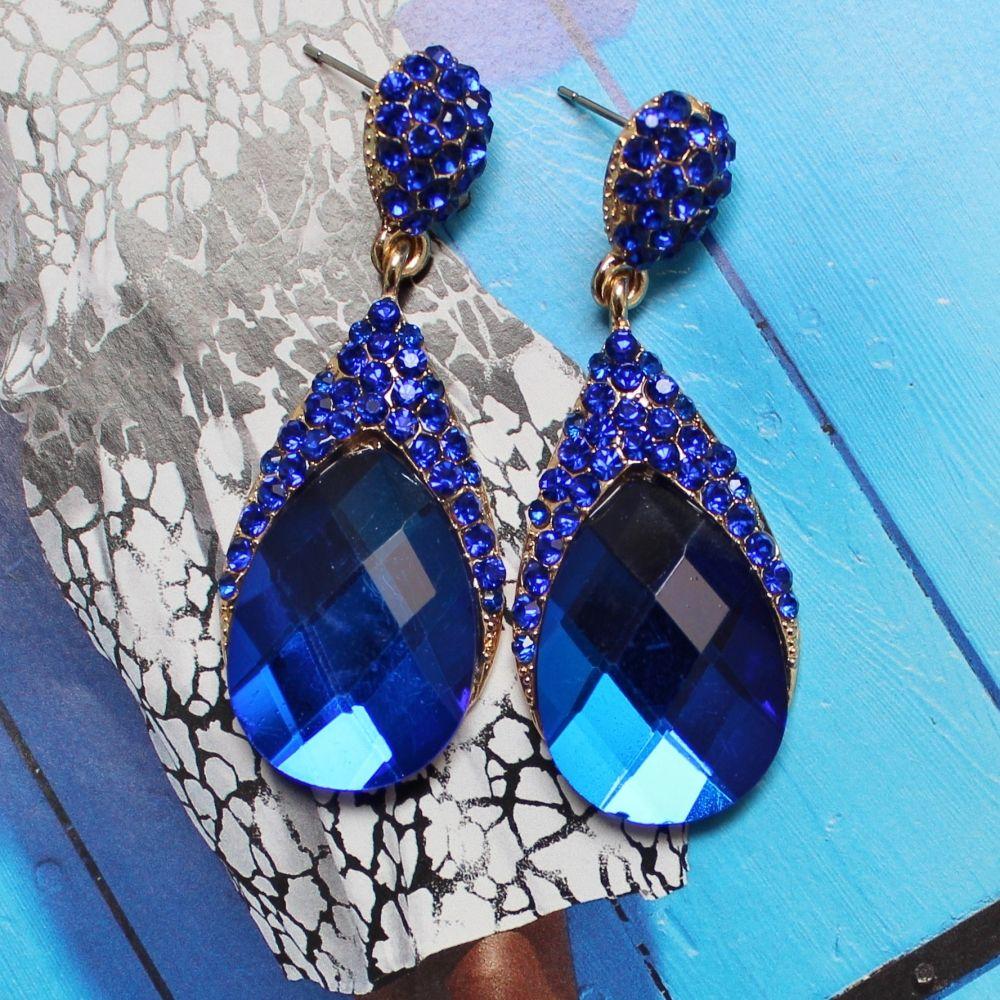 Princess Blue Earrings