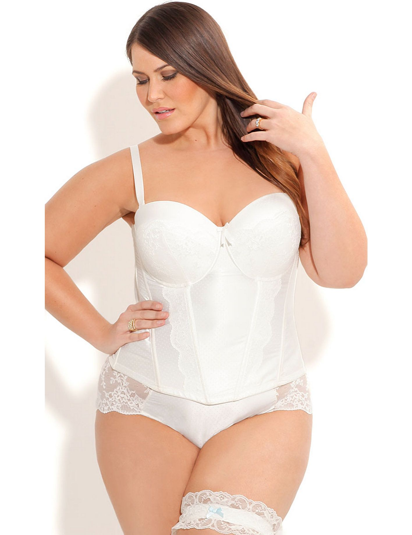 98d3580a25 Plus Size Bridal Lingerie - Corsets   Underwear for Plus Size Brides ...