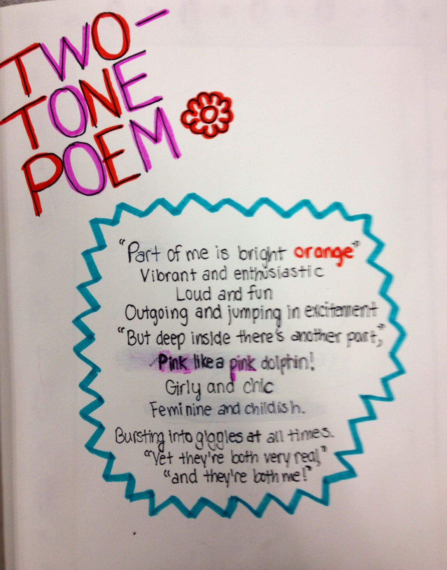 Two Tone Poem, Grade 10. | DW Poppy Journals | Pinterest | Poems ...