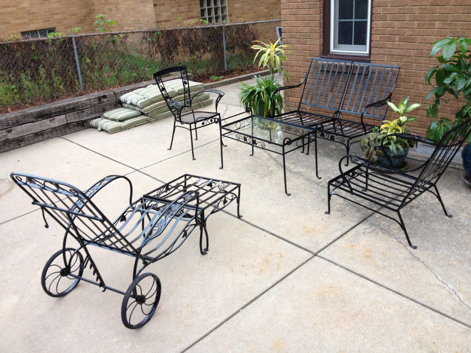 Vintage Salterini Wrought Iron Patio Set by AthenaLucille on Etsy ...