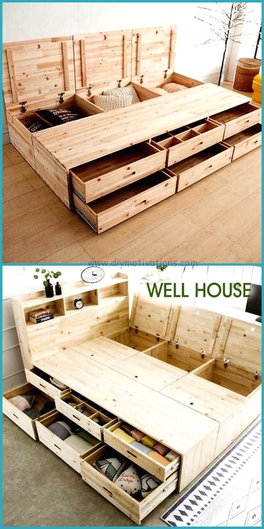 How to make a DIY Pallet Bed? #woodpalletbeds
