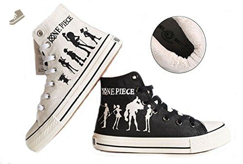 be2c10c8e1203 One Piece Anime Luffy Cosplay Shoes Canvas Shoes Sneakers Hand ...