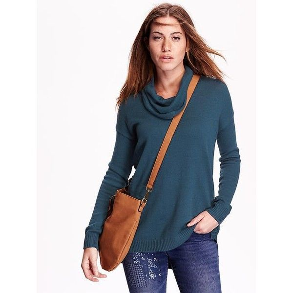 Old Navy Womens Cowl Neck Tunic Sweater (47 AUD) ❤ liked on ...