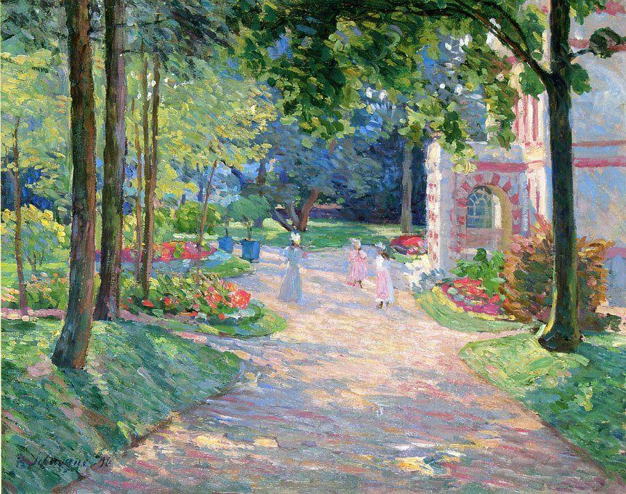 Картинки по запросу parc monceau painting