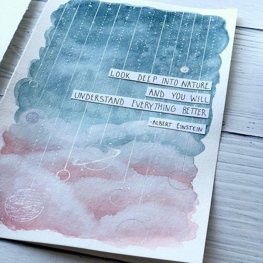 """Photo of Bullet Journal & Art Gallery on Instagram: """"""""Look deep into nature and you will understand everything better."""" – Albert Einstein . Double tap if you love journaling! 😍 Use…"""""""