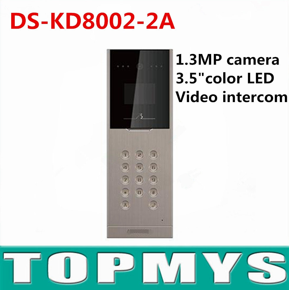 (360.04$)  Know more  - Hik Video door access control DS-KD8002-2A Video door station 1.3MPCamera door phone recorder handfree Monitor Intercom doorbell