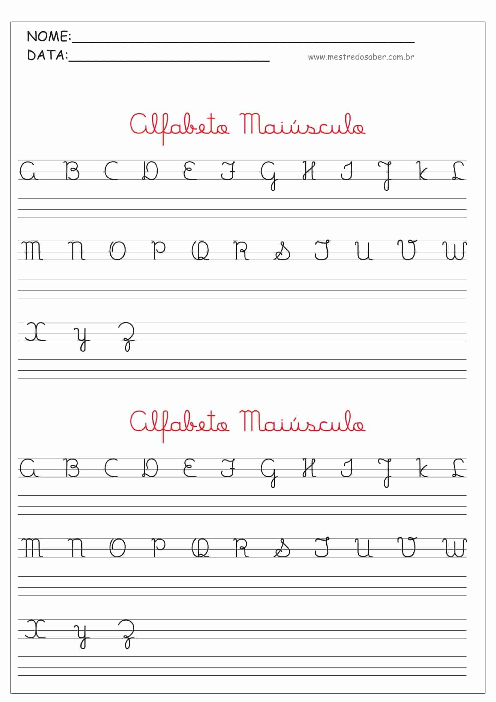 2 Alfabeto Cursivo Maiusculo Jpg 1654 2339 Com Imagens