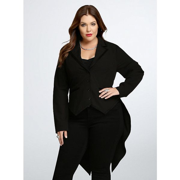 0041b0a0455 Torrid Tails Jacket ( 52) ❤ liked on Polyvore featuring outerwear ...