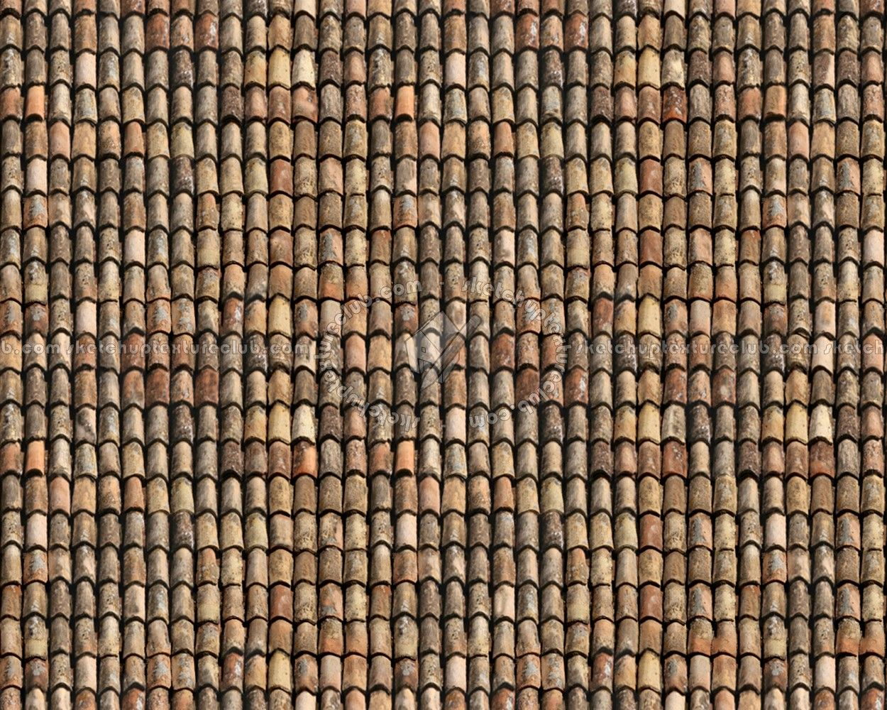 Best Sketchuptexture Texture Seamless Old Clay Roofing 400 x 300