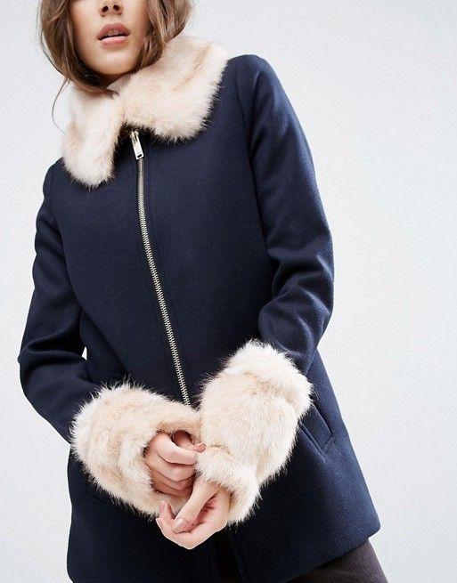 ASOS Pink Long Faux Fur Cuffs