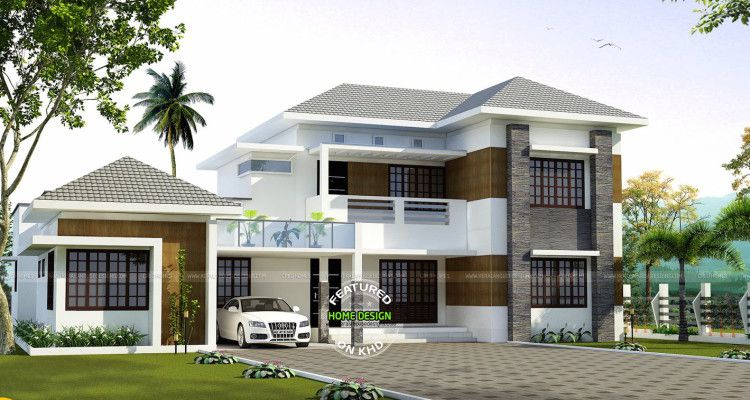 Two Storey Home Design With Elegance Kerala House Design House Design Storey Homes