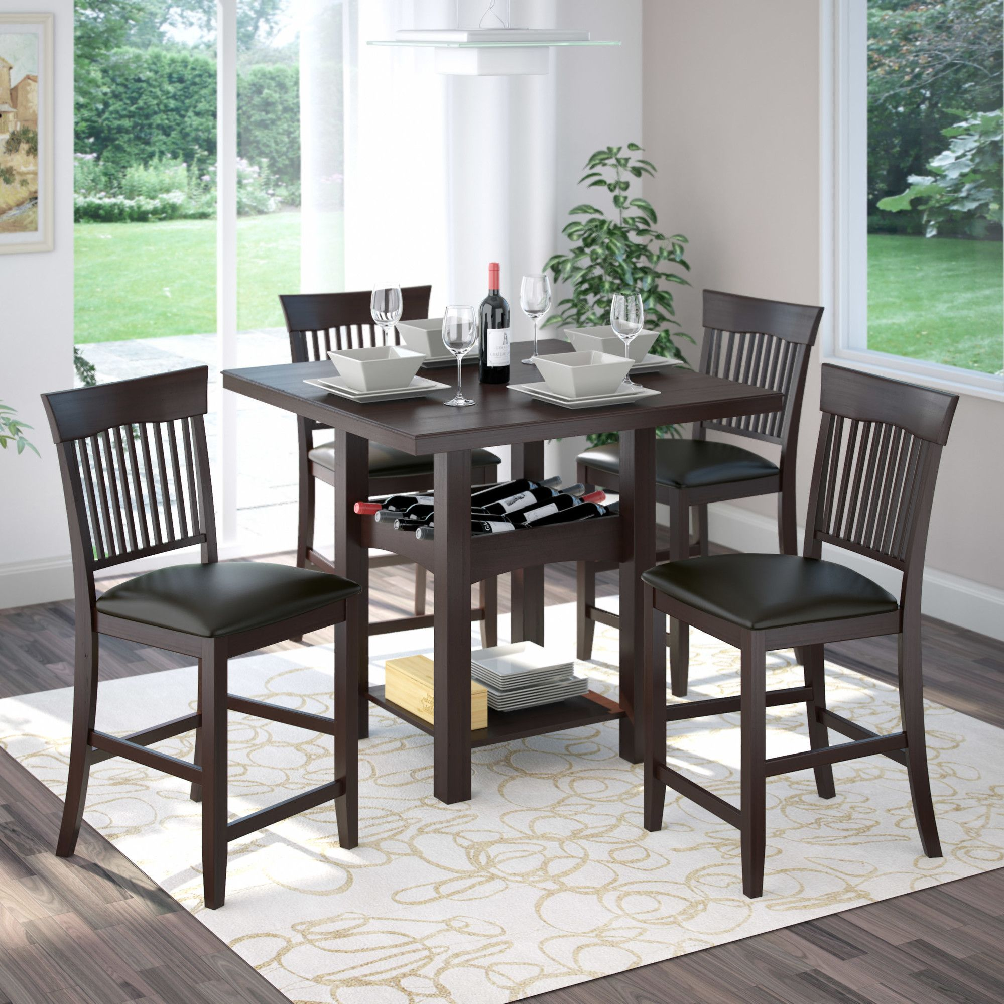 CorLiving Bistro 5 Piece Counter Height Dining Set & Reviews ...