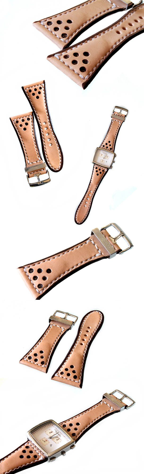 Hand made leather watch strap.