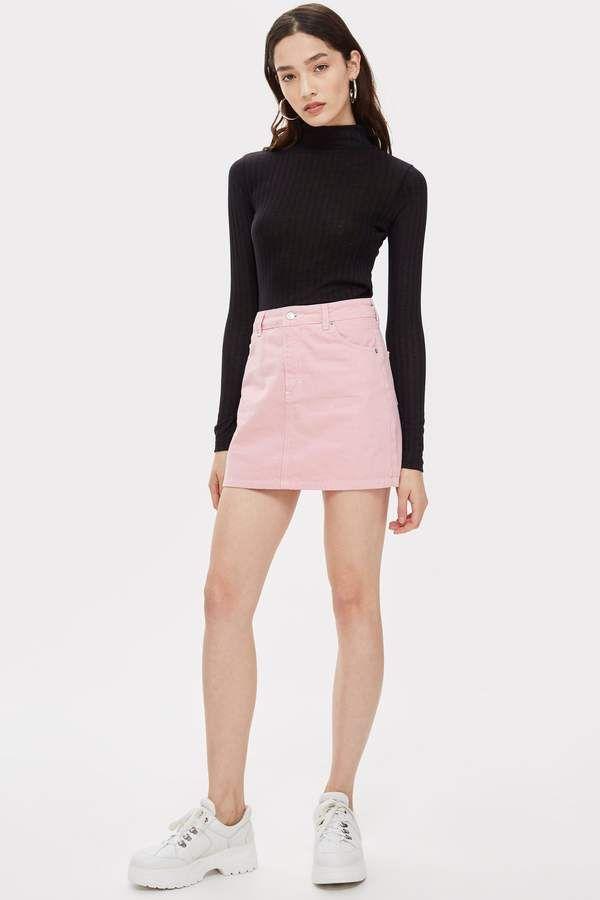 75bc425da Sugar Pink Denim Skirt | FASHUN | Pink denim skirt, Denim skirt, Skirts