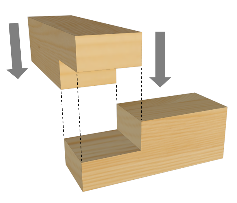 Half Lap Joint Illustration From The Tools Amp Techniques